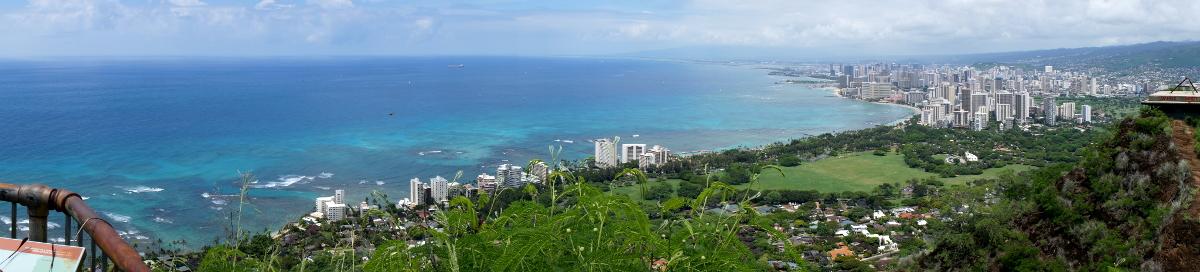 Panoramic shot from Diamond Head