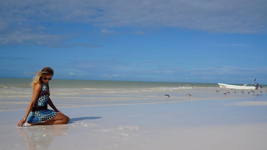 Isla Holbox en la playa