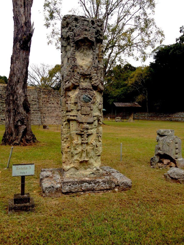 Mayan statue.