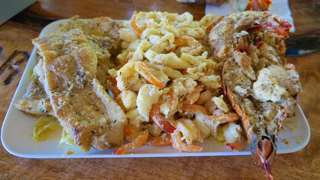 Mixed fish platter in Garifuna style