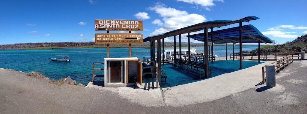 Speed boat dock on Baltra Island