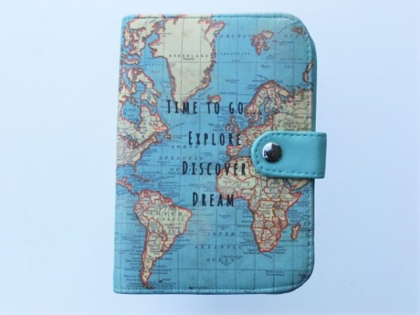 jeyjetter.com: Vintage World Map Printed Passport Holder