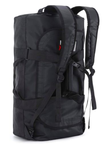 Black backpack duffel bag style