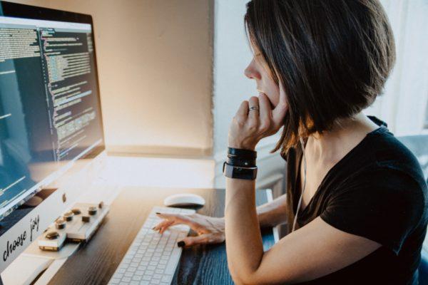 Female computer programmer