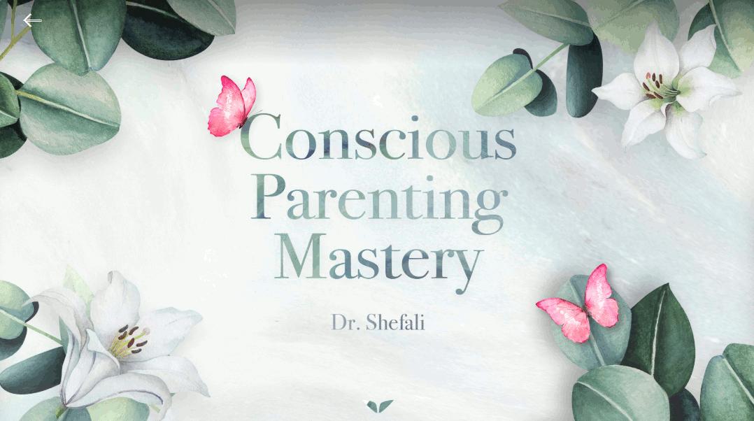 Conscious parenting mastery graphic.
